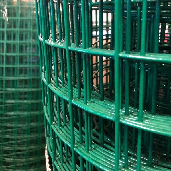 Tela de aço galvanizado soldada com PVC