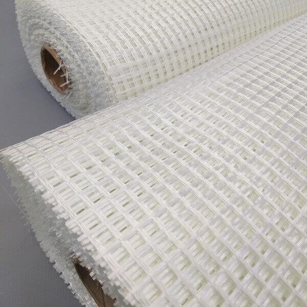 Dois rolos de tela de fibra de vidro para reforço