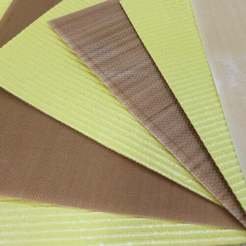 Tecido de fibra de vidro com revestimento de PTFE antiaderente com e sem adesivo